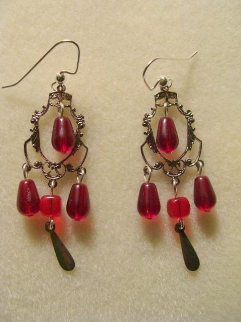 Earrings for beautiful Russian lady