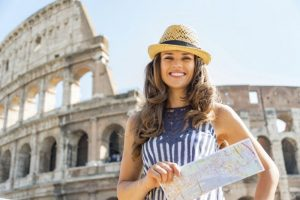 Picture of a tourist woman
