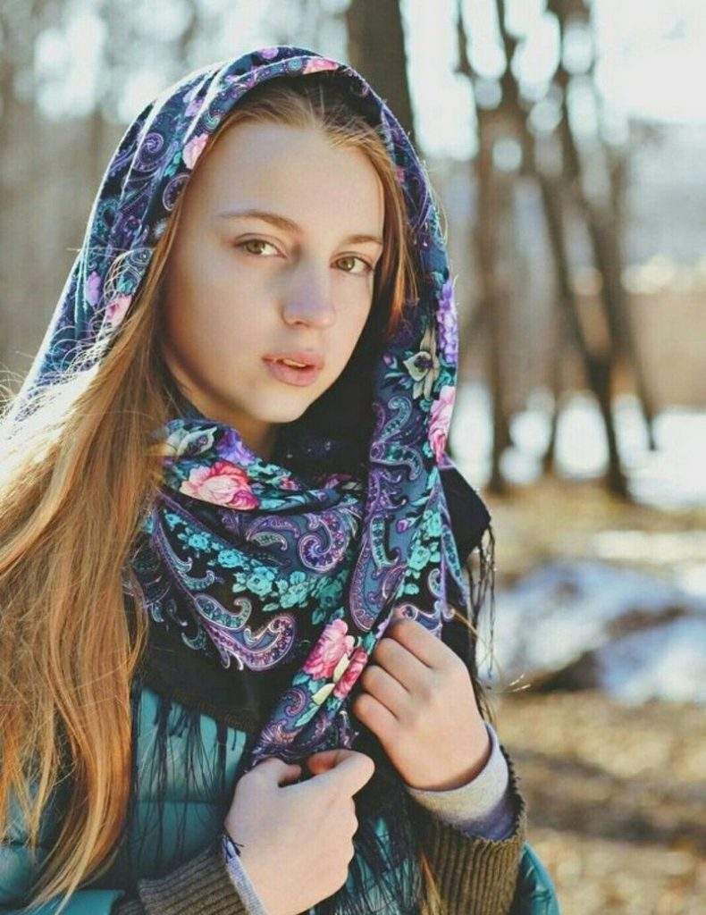 A pretty Russian girl likes when her partner is interesting and cheerful
