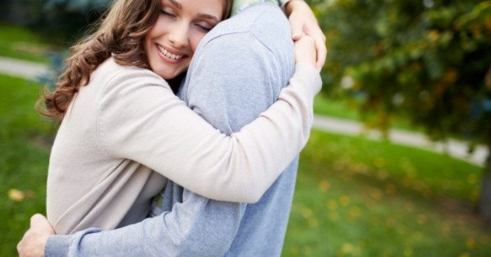 Image of a hugging couple
