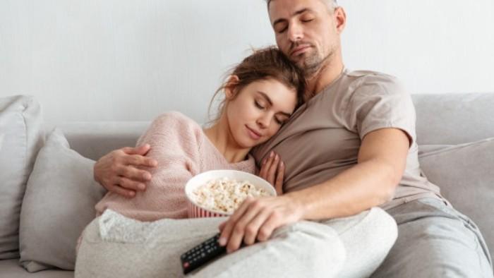 Image of a cuddling couple